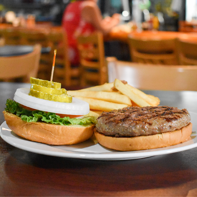 Bayside Grille Fort Myers Beach Restaurant Hamburger